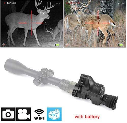 Night VISION 1080p HD WiFi-Kamera-Zielfernrohr, Nachtsichtgerät NV007 Digitales Nachtsichtgerät - Inklusive tragbarem 32G SD-Tag- und Nachtmodus für die Jagd auf Nachtsicht, Beobachtung und Multifun