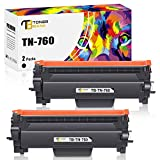 Toner Bank Compatible Toner Cartridge Replacement for Brother TN760 TN-760 TN730 TN-730 TN 730 for MFC-L2710DW DCP-L2550DW HL-L2350DW HL-L2390DW MFC-L2750DW HL-L2395DW HL-L2370DW Toner (Black, 2-Pack)