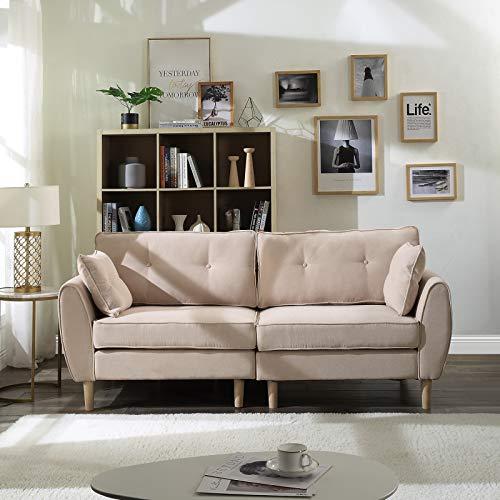Canapé droit 3 places Tissu Pas cher Moderne Confort