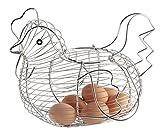 St@llion Verchromt Huhn geformt Draht Ei Ablagekorb Halter Rack