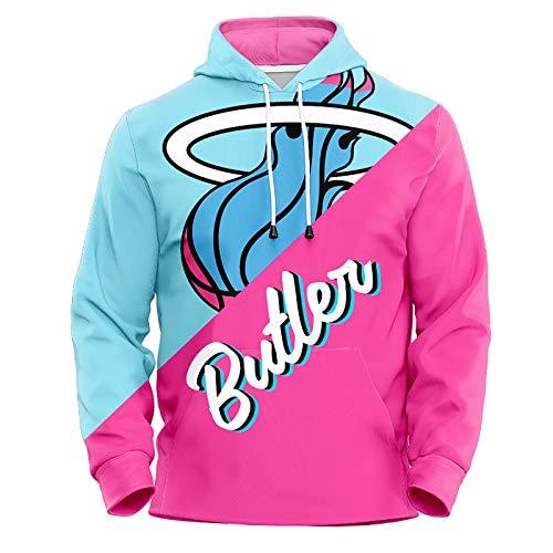 Jimmy Butler Lovers Felpa con Cappuccio Pullover di Pallacanestro, Miami Heat # 22 Giacca con Cappuccio a Manica Lunga Pop Unisex (Color : Pink(A), Size : XL)