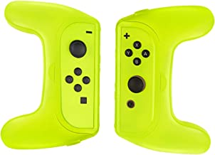 Powtree 2 Pack Joy Con Grips Compatible with Nintendo Switch Handle Kit for Nintendo Game Switch JoyCon Controller Joy-Con Case - Yellow