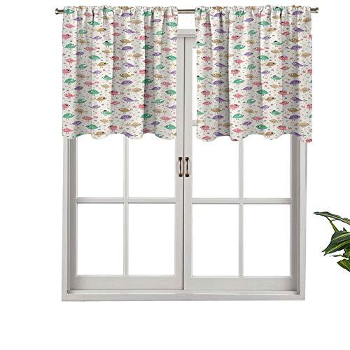 Cenefa de cortina con bolsillo para barra de alta calidad, diseño de pájaros faciales, divertido animal, juego de 1, 106,7 x 45,7 cm para decoración de interiores