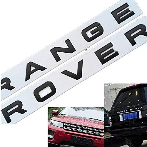 L&U 1 Juego en 3D Cubierta de la Cabeza capó Delantero Cartas Emblema Deportes Línea Insignia del Emblema Carta de Range Rover Pegatinas Decal Logo,Matt Black