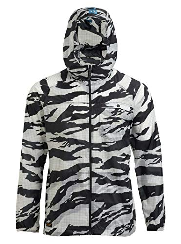 Burton Mens Portal Lite Jacket, True Black Tiger, X-Large