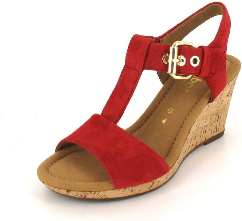 Gabor Comfort Sandalette, Farbe  rot (Kork)