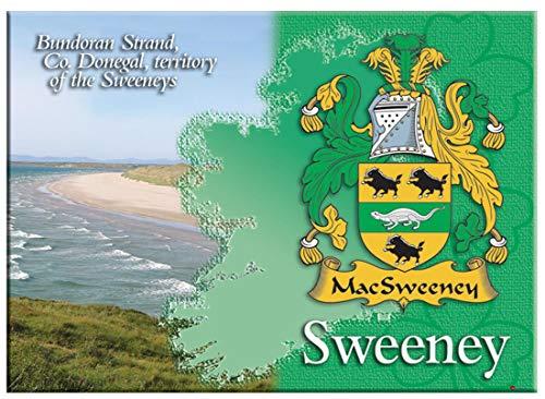 iLuv Sweeney Irlandesi Cognome Souvenir Metallico Immagine Calamita da Frigo
