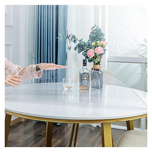 GHHZZQ Cocina Tapete de Mesa PVC Mantel Transparente Impermeable A Prueba de Aceite No Lavar Manteles Anti-Quemaduras Hogar Cojines de Plastico, Varios Tamaños