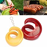 Chige 2 pcs Manual Fancy Sausage Cutter Spiral Barbecue Hot Dogs Cutter Slicer kitchen Cutting Auxiliary Gadget Fruit Vegetable Tools