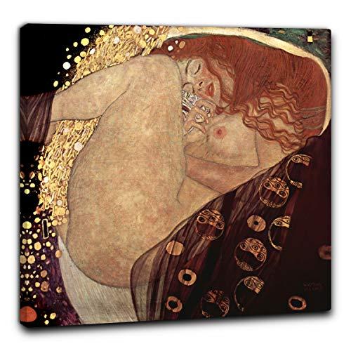 Niik Quadro + Telaio (BC) Danae di Gustav Klimt 60 x 60 x 1,7 cm Falso d'autore Stampa su Tela
