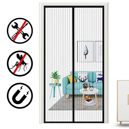 Oladwolf Mosquitera Magnética para Puerta Protección Contra Insectos Magnético Corredera Cortina Mosquitera Magnética para Puertas Cortina de Sala de Estar la Puerta 90x210cm