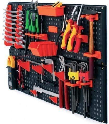 2 x Werkzeugwand Halterung Werkzeughalter Werkzeugtafel Lochwand schwarz-orange von rg-vertrieb