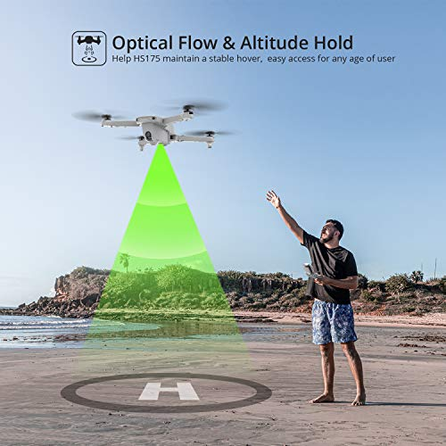 Holy Stone HS175 Drone with Camera for Adults 2K UHD, GPS Auto Return, 5GHz FPV RC Quadcopter Follow Me, Waypoints, Circle Fly, Optical Flow, Headless Mode, 2 Batteries for 40 Min and Carrying Case