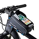 GADISTA® Francia, Bolsas de Bicicleta (6.5 Pulgadas) Bolsa para Cuadro Bicicleta con o sin Touch ID. Soporte Movil Bici Impermeable Y Soporte GPS Bicicleta