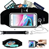 smartlle Fanny Pack, Running Belt, Waist Bag for Women & Men for iPhone 12 11 Pro Max/XR/XS Max/X/XS/8 7 6 6S Plus, Samsung Galaxy, Huawei, for All Mobiles, Gym Workout Fitness Gear-Black