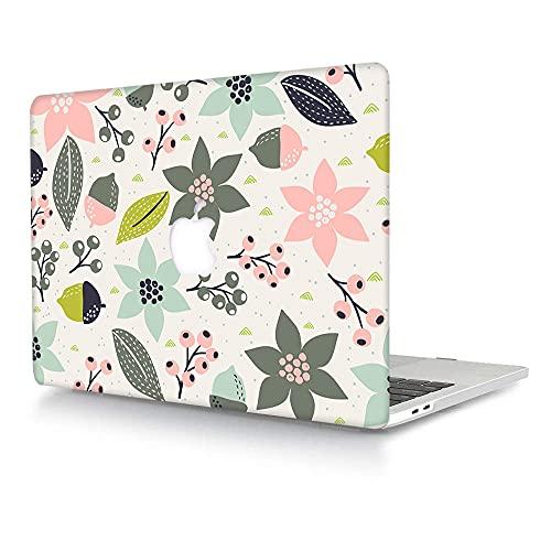 ACJYX Funda MacBook Air 11 Pulgadas (Modelo A1370 & A1465), Mate Cubierta de Plástico Dura Carcasa Rígida Estuche Protector Compatible con Mac Air 11,6' - Flor y Hoja