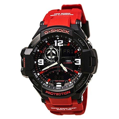 Casio G-Shock Aviation Black Dial Red Resin Quartz Men's...