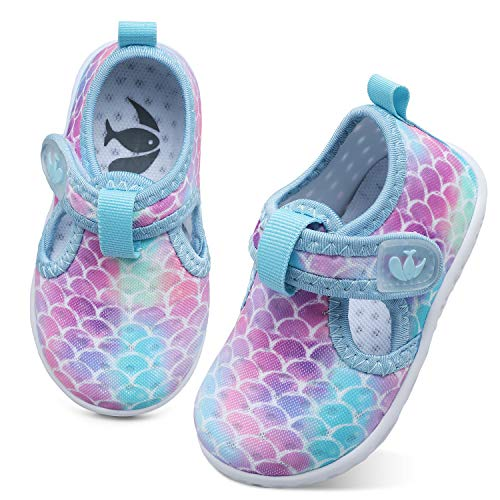 FEETCITY Boys Girls Shoes Baby Water Shoes Beach Quick Dry Swim Barefoot Aqua Socks Outdoor Athletic Pool Shoe 12-18 Months Infant