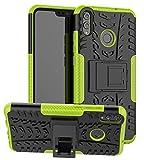 Yiakeng Handyhülle für Huawei Honor 8X Honor 9X Lite Hülle, Doppelschicht Stoßfest Schlank Silikon 360 Grad Schutz Mit Ständer für Huawei Honor 8X Honor 9X Lite(Grün)