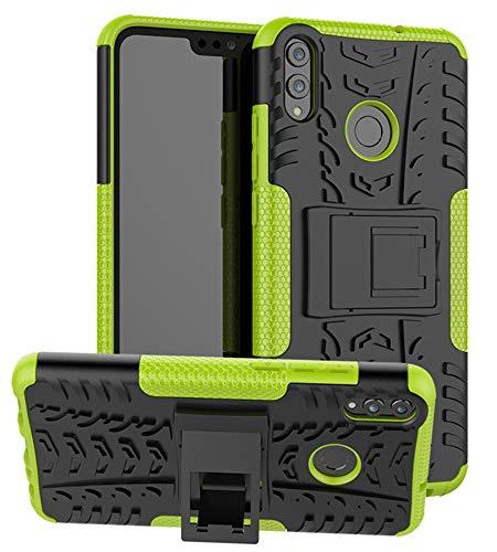 Yiakeng Cover Huawei Honor 8X Honor 9X Lite, Doppio Strato Antiurto Protezione Silicone con Kickstand Rugged Custodia per Honor View 10 Lite/Honor 8X (Verde)