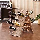 Vintage Style 24 Bottle Distressed Wood Riddling Wine Rack