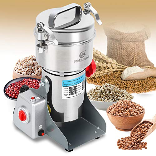 Ridgeyard 700g Electric Grain Grinder Mill Powder Machine Mill Grinder Coffee Grinder for Bean Seed Nut Spice Herb Pepper Cereal Wheat