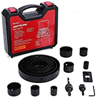 17-Pieces Meterk Hole Saw Kit with 13-Pieces Saw Blades