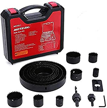 17-Pieces Meterk Hole Saw Kit with 13Pcs Saw Blades