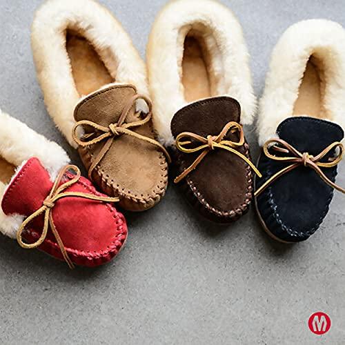 Minnetonka Women's Alpine Sheepskin Slippers, Golden Tan, 8