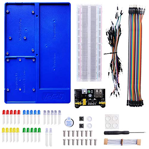 GeeekPi Raspberry Pi 4 Holder ABS Holder Breadboard Holder Kit Für Raspberry Pi 4B,3B+,3B,2B,B+,Zero,Zero W,Arduino UNO,Arduino Mega 2560 (Blue)