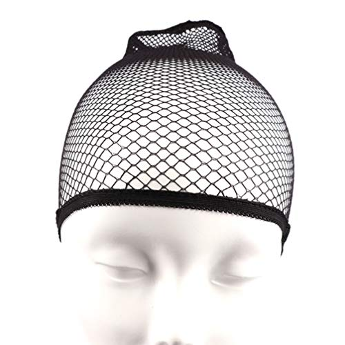 Healifty 3 Pcs Bas Perruque Cap Snood Maille Filet à Cheveux Perruque Net Cap Femmes Snood Cheveux Accessoire
