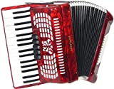 Scarlatti - Acordeón de 72 bajos, color rojo