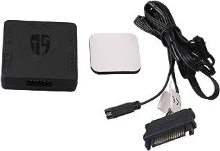 BQLZR Square Black 5V 3-Pin to 12V 4-Pin Plastic RGB Converter Transfer Hub Accessory