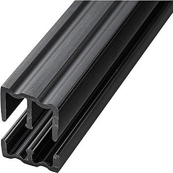 Black - 4 Foot Plastic Sliding Door Track