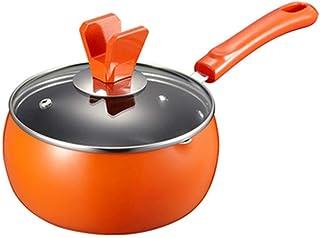 WWY Suplemento de Alimentos for bebés en el hogar Olla de Leche Olla pequeña Olla de Sopa de Leche Caliente Cocina con Tapa, Aluminio Antiadherente