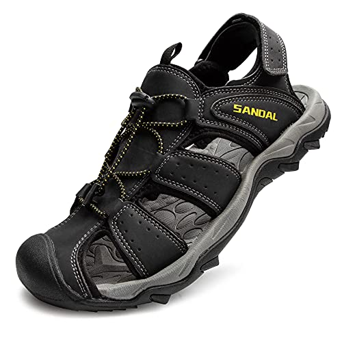 LARGERED Mens Women Wide Fit Sandals Sports Outdoor Hiking Sandals Walking...