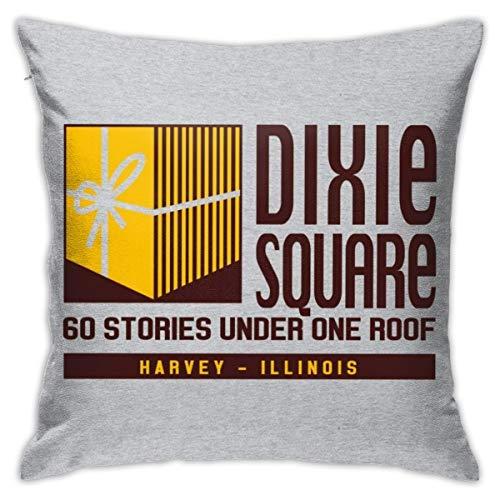 HONGYANW Dixie Square Mall Blues Brothers funda de almohada, impresión de doble cara, funda de almohada con cremallera oculta, hermoso patrón impreso almohada 45,7 x 45,7 cm