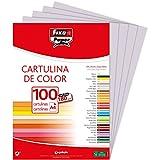 Fixo 11110472 – Confezione da 100 cartoncini, A4, colore: grigio perla