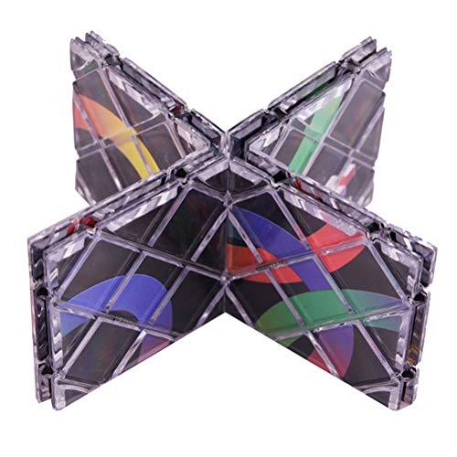 Gmuret Cubo de, 8 Paneles, 3 Anillos, mágico Negro, Cubo de Rompecabezas Plegable, Juguetes retorcidos para niños, Adolescentes, Adultos