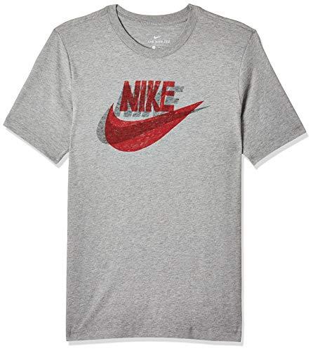 NIKE CK2377-063 Shirt, Dk Grey Heather/Black, XL Mens