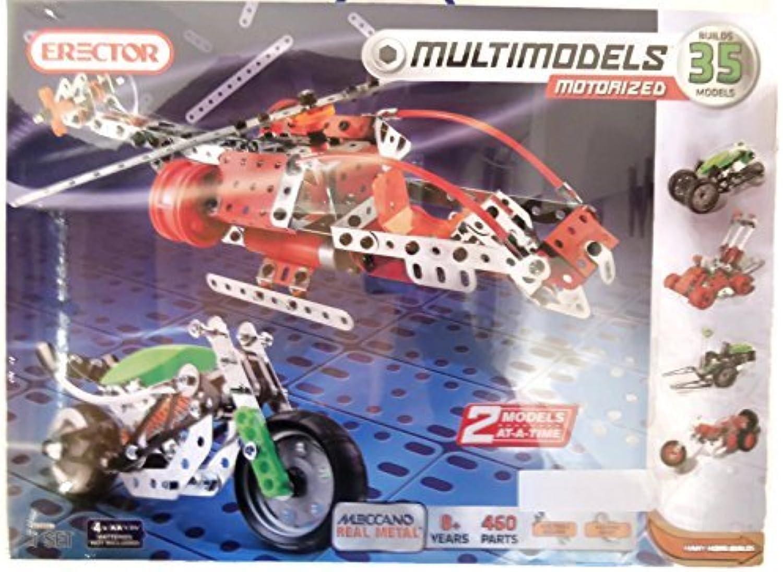 almacén al por mayor Erector Multimodels Motorized Building Set - 35 Models, Models, Models, 460 Parts by Erector  Entrega directa y rápida de fábrica