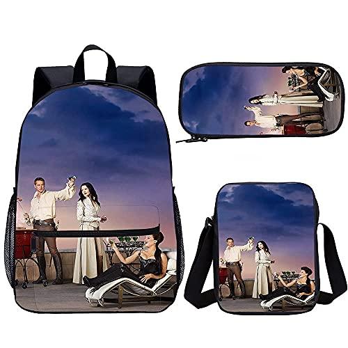 Mochila casual para mujer y hombre, Asterix y los vikingos, de tres piezas, mochila escolar, adolescente y niña (45 x 30 x 15 cm) con estampado en 3D