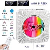 Reproductor de CD portátil, Altavoz HiFi Incorporado, Reproductor de CD de música MP3 USB con Bluetooth con Radio FM de Audio para el hogar, Conector AUX de 3,5 mm, Regalo para la Familia (White)