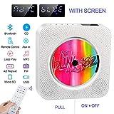 Lecteur de CD Portable, Haut-Parleur HiFi intégré, Lecteur de Musique MP3 Bluetooth avec Fixation Murale au Mur avec Audio...