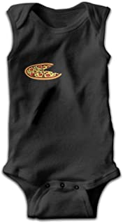 When Can Have Pizza Newborn Infant Baby Summer Sleeveless Bodysuit Romper