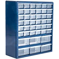 Stalwart Deluxe 42 Drawer Compartment Storage Box, 10 Targets