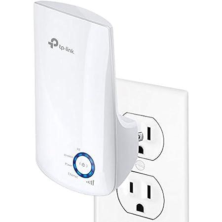 TP-Link TL-WA850RE Repetidor de Wifi Extensor de Cobertura Inalámbrico Universal, 300Mbps, Enchufe de Pared, Tipo Plug and Play, Puerto Ethernet, Luz Indicadora de Señal Inteligente