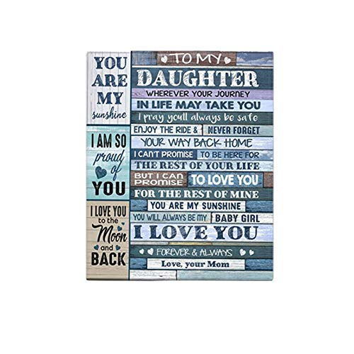 Manta de forro polar con texto en inglés «To My Daughter» («To My Daughter»), manta de franela para bebés y niñas.