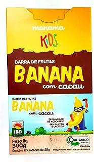 Barrinha de Aveia, Banana e Cacau Orgânica Monama Mini (Cx c/ 12 un de 25g)