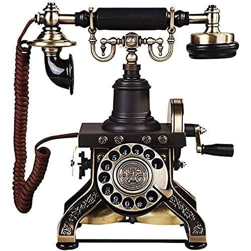 JDJFDKSFH Teléfono Vintage Retro de Alta Gama - Placa de dial rotativa Antigua teléfono Fijo - decoración clásica Adecuado para el hogar, Oficina, casa de Lujo, Hotel Estrella